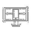 e-commerce icon responsive hand drawn icon set vector image vector image
