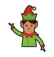 elf or santas helper christmas character icon vector image vector image
