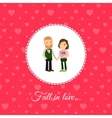Fall in love couple card template vector image vector image