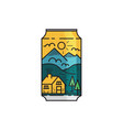 flat design cover canned soda vector image vector image