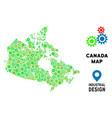 gears canada map mosaic vector image