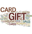 gift card rush will boost holiday sales figures vector image vector image