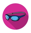 Glasses for swimming icon in flat style isolated vector image