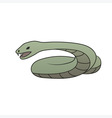 green cartoon snake vector image vector image