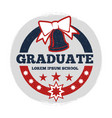 grunge students graduate banner vector image vector image