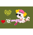 Happy Valentines day Army Valentine Military Cupid vector image vector image