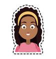 happy woman cartoon icon image vector image vector image