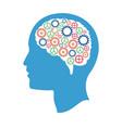 head gears idea creativity vector image vector image
