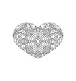 heart shaped ornament vector image vector image