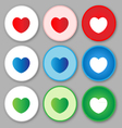 Heart sign icon love vector image vector image