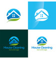 house cleaning icon and logo 2 vector image vector image