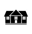 house glyph black icon isolated on white vector image vector image