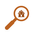 house search icon vector image vector image