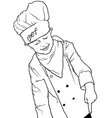 little chef pointing down vector image