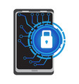 lockpad on a cellphone cyber security vector image