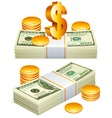 money packs vector image