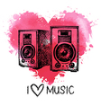 music background with splash watercolor heart
