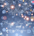 New Year greeting card Congratulations on vector image