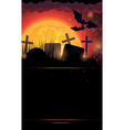 Night cemetery vector image