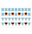 oktoberfest garlands bunting flags vector image vector image