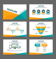Orange green presentation templates Infographic vector image