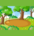 park scene with swing on the tree vector image vector image