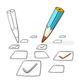 Pencil Check Option vector image vector image