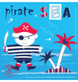 pirate 2 vector image vector image