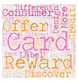 Private Label Reward Credit Cards text background vector image vector image