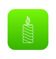 rectangular icon green vector image vector image