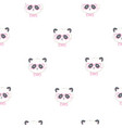 seamless cute cartoon panda pattern vector image