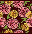 seamless pattern with hand drawing cute flowers on vector image