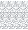 seamless pattern with icons fitness items vector image vector image