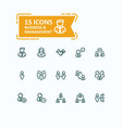 set fine line icons vector image