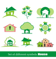 set of symbols home house vector image vector image