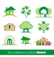 set symbols home house vector image vector image