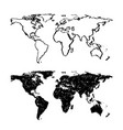 sketch of hand drawn world map vector image vector image