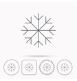 Snowflake icon Snow sign Air conditioning vector image vector image