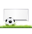 Soccer Goal with Ball2 vector image vector image