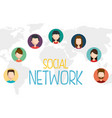 social network set icons vector image vector image