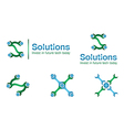 Solution business logos vector image vector image