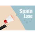 Spain lose Flat design business vector image vector image
