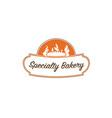 specialty-bakery-logo vector image vector image