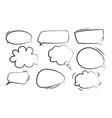 speech bubbles stickers bubbles vector image