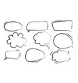 speech bubbles stickers speech bubbles vector image