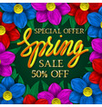 spring sale special offer golden and yellow vector image