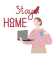 stay home vector image vector image