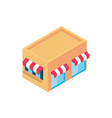 Store building online shopping isometric icon
