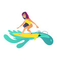 summertime sea and ocean activity - young girl in vector image vector image