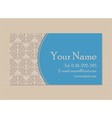 vintage business card vector image vector image